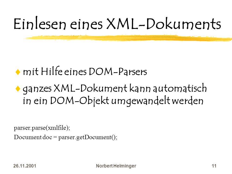 Einlesen eines XML-Dokuments