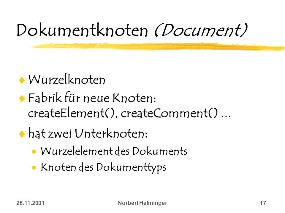 Dokumentknoten (Document)