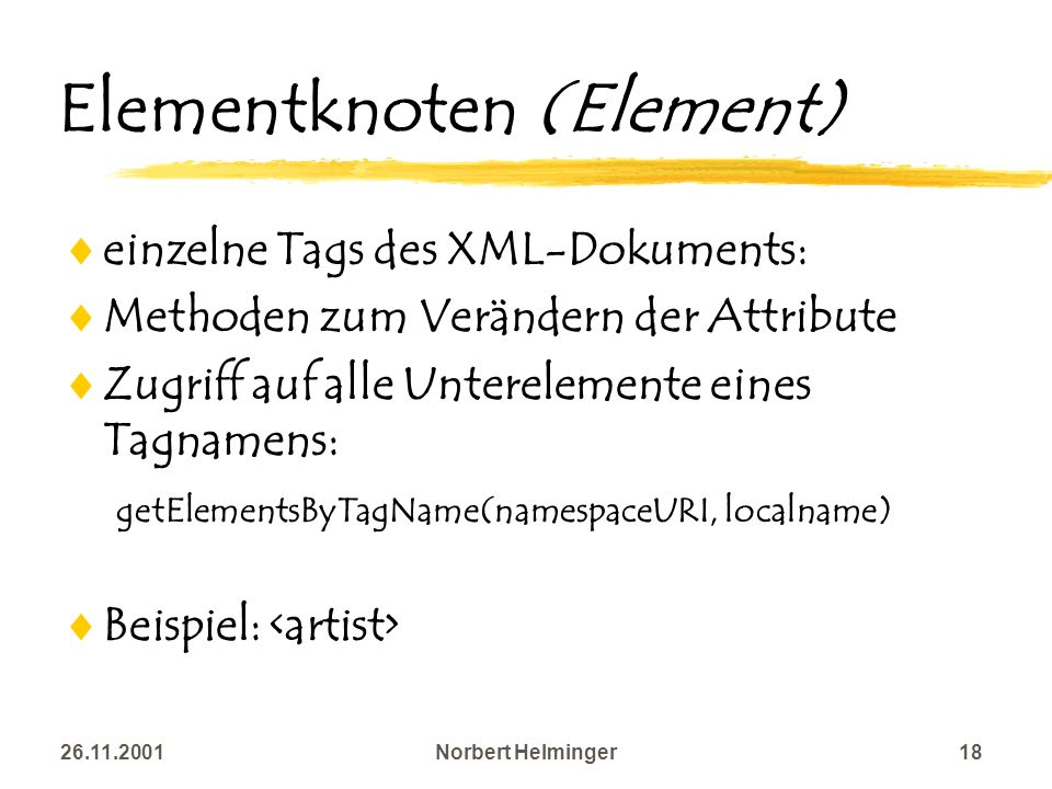 Elementknoten (Element)