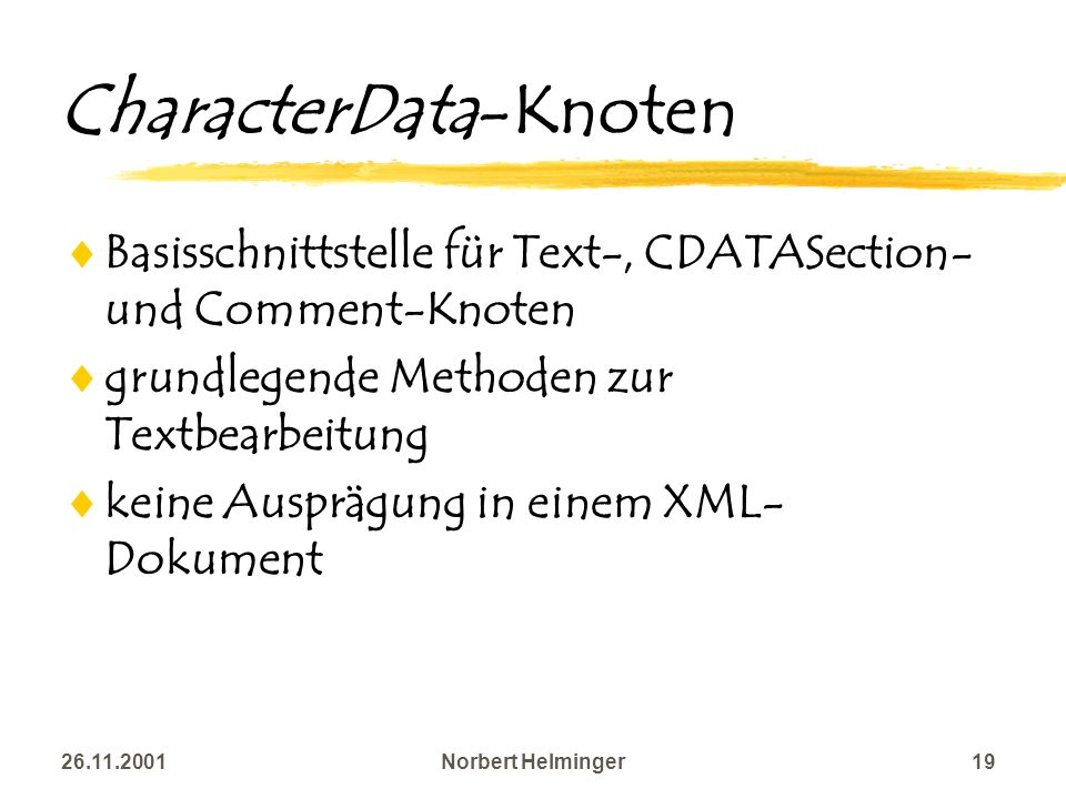 CharacterData-Knoten