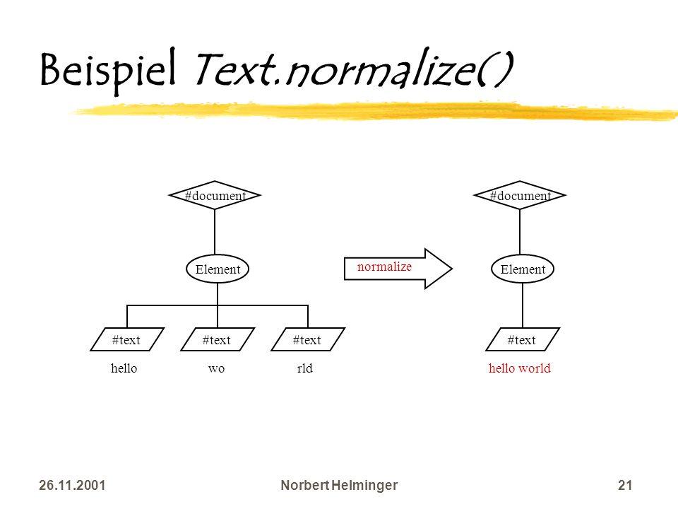 Beispiel Text.normalize()