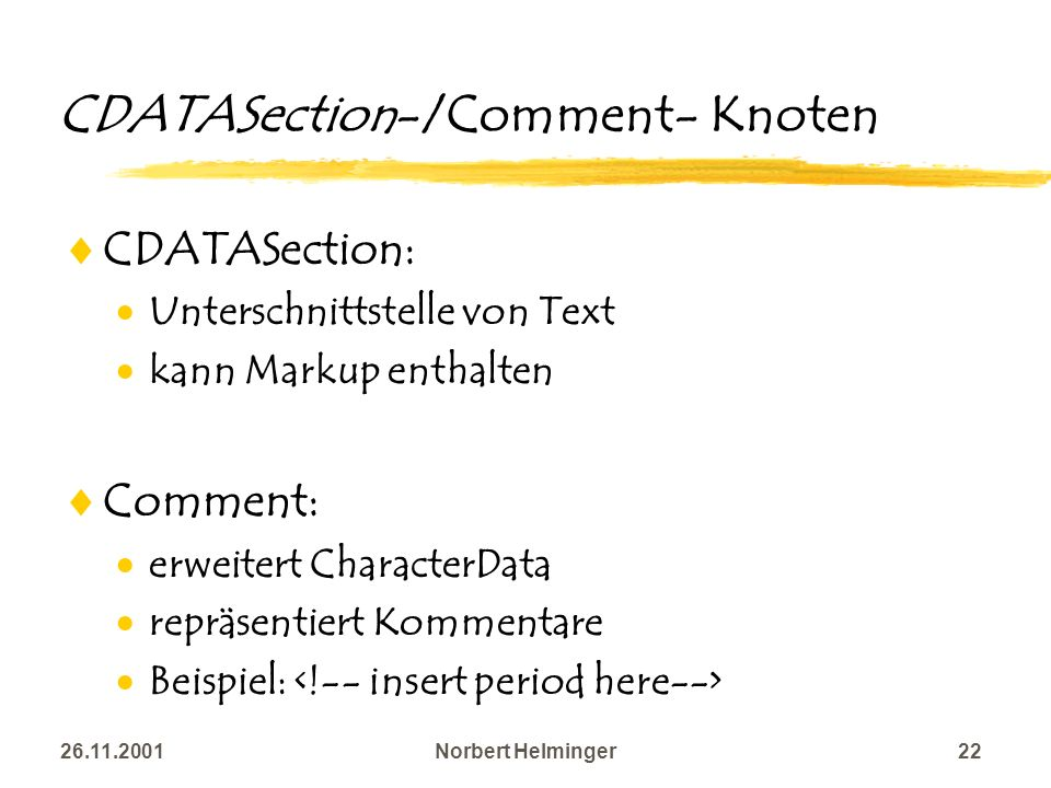 CDATASection-/Comment- Knoten