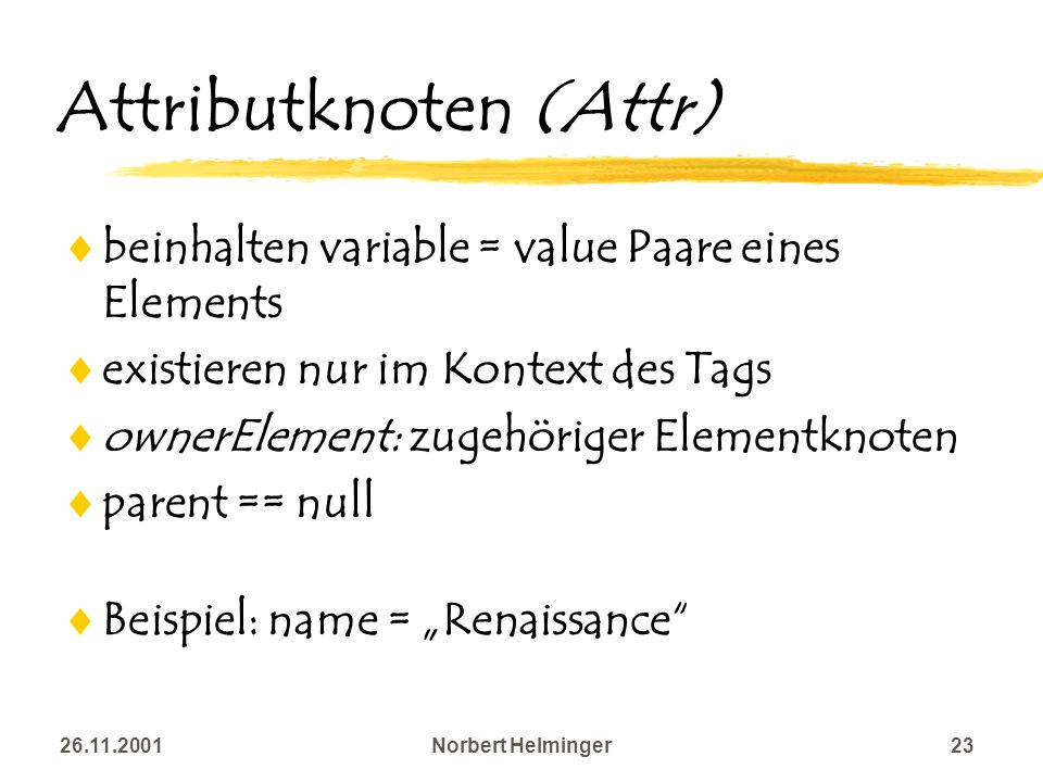 Attributknoten (Attr)