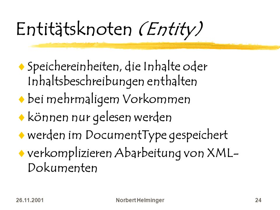 Entitätsknoten (Entity)