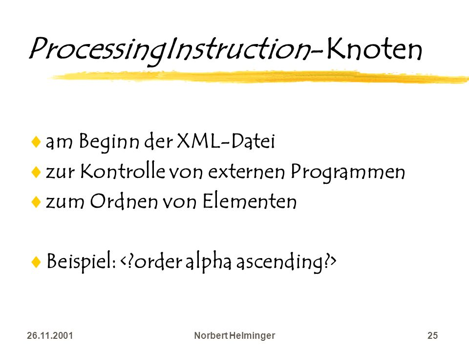 ProcessingInstruction-Knoten