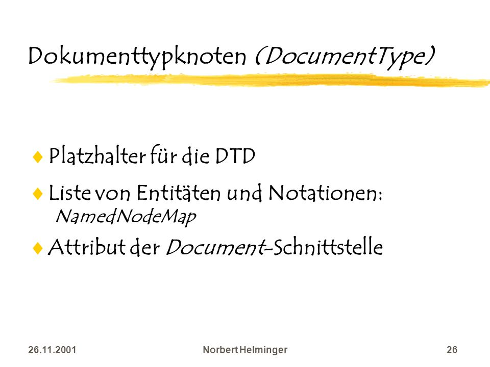 Dokumenttypknoten (DocumentType)
