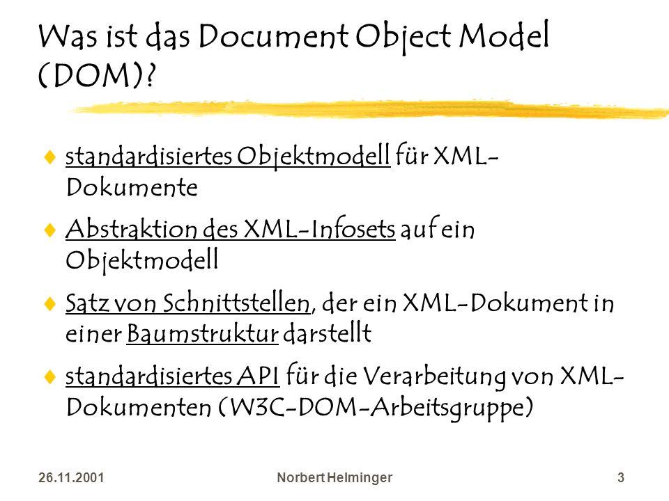 Was ist das Document Object Model (DOM)