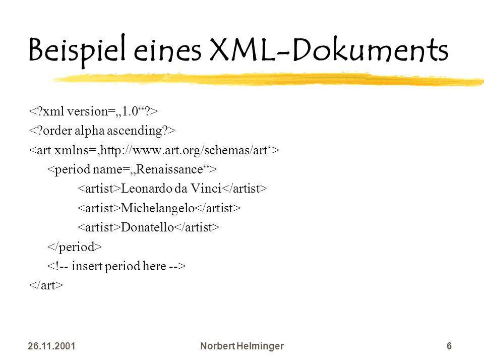 Beispiel eines XML-Dokuments