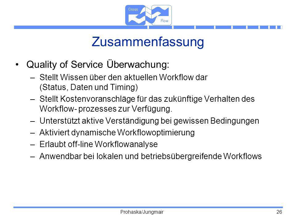 Zusammenfassung Quality of Service Überwachung: