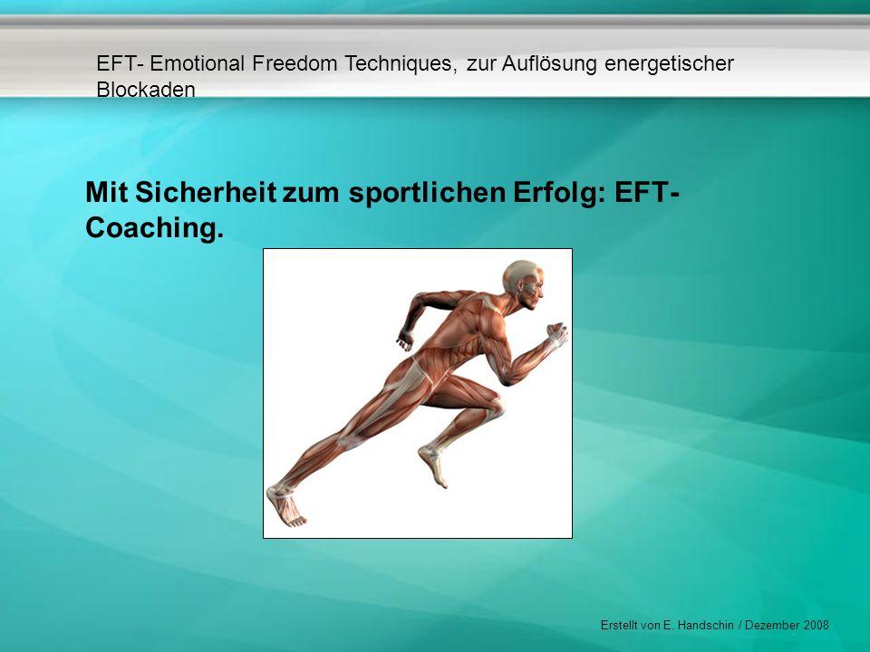 Mit Sicherheit zum sportlichen Erfolg: EFT-Coaching.