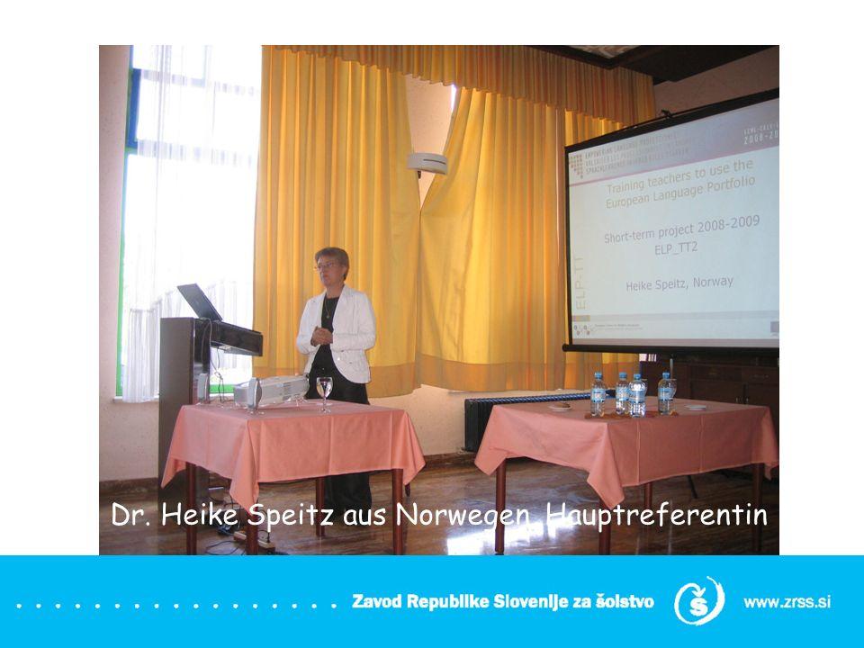 Dr. Heike Speitz aus Norwegen, Hauptreferentin