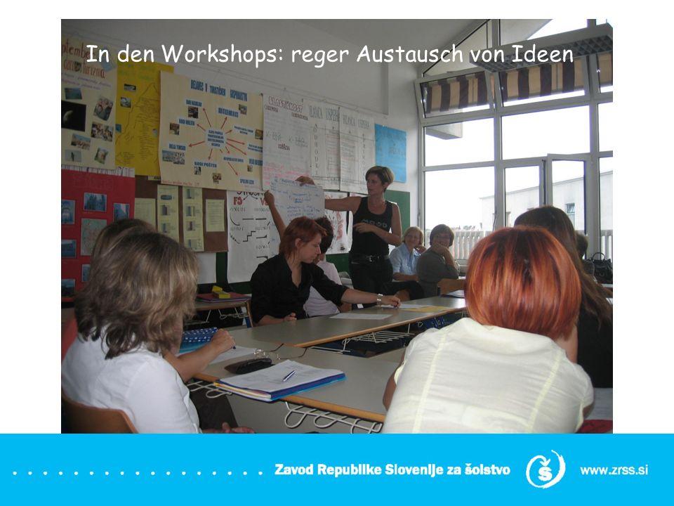 In den Workshops: reger Austausch von Ideen