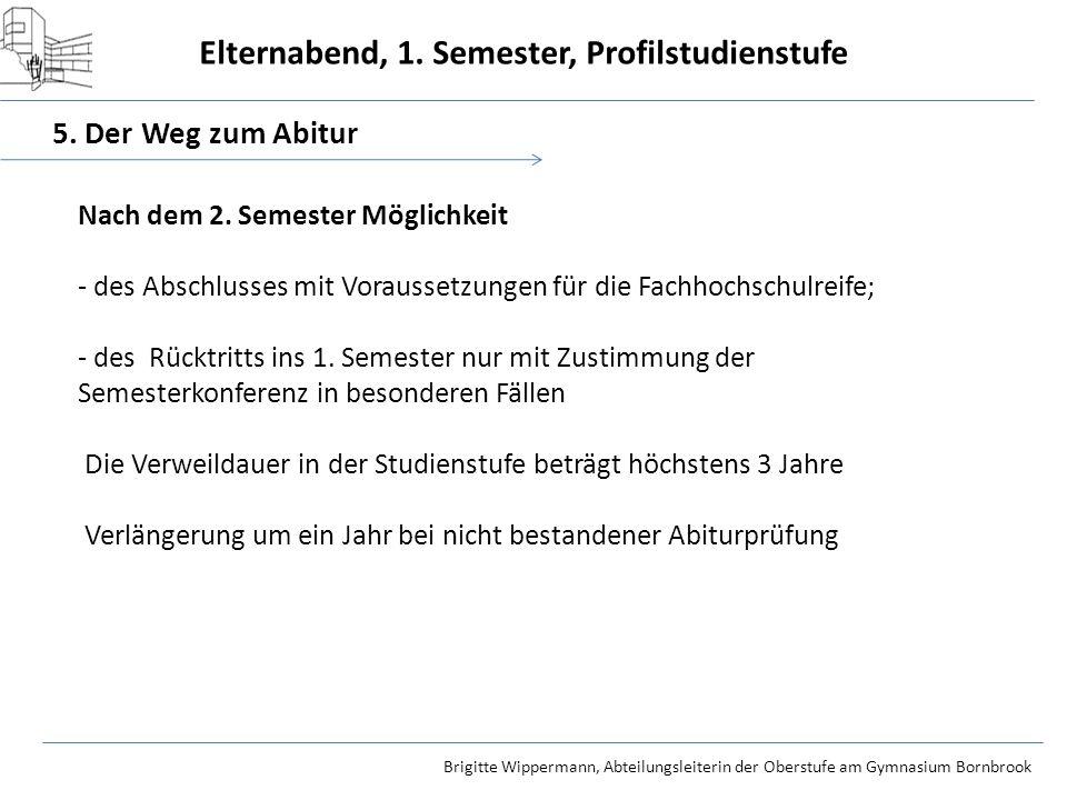 5. Der Weg zum Abitur Nach dem 2. Semester Möglichkeit