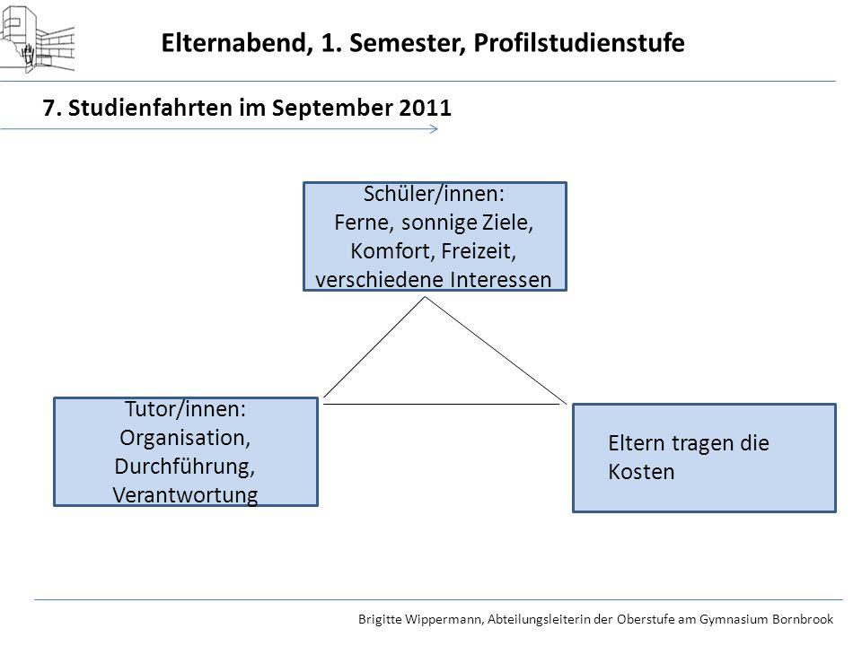 7. Studienfahrten im September 2011