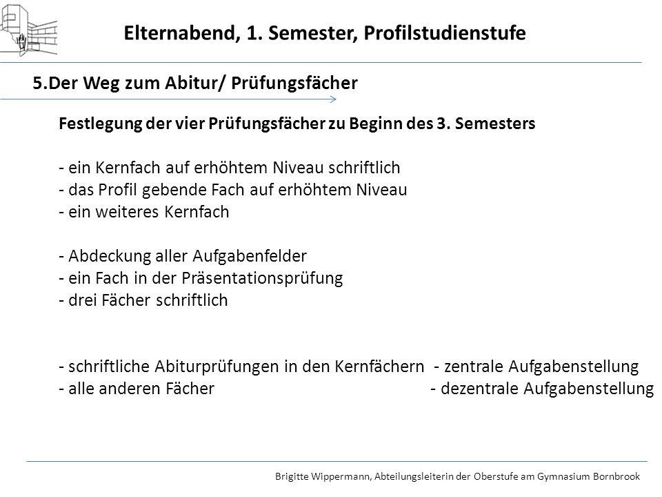 5.Der Weg zum Abitur/ Prüfungsfächer