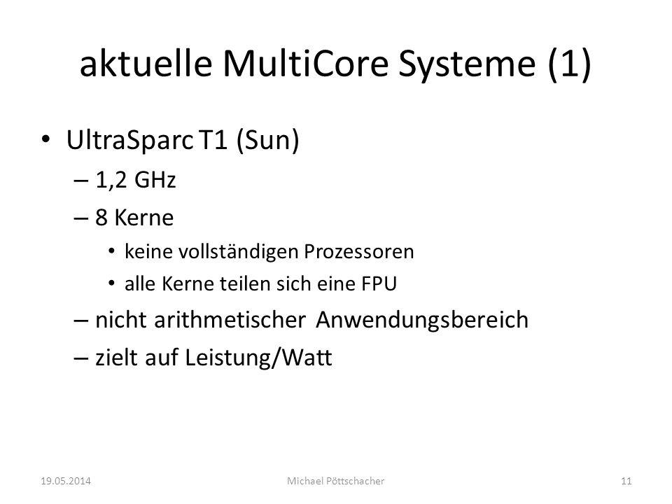 aktuelle MultiCore Systeme (1)