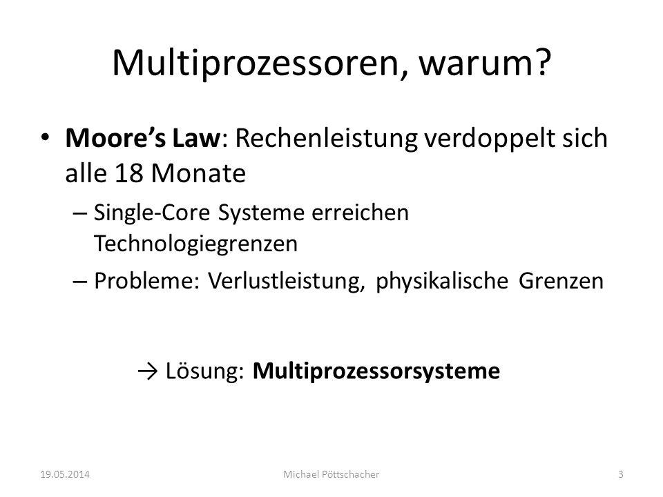 Multiprozessoren, warum