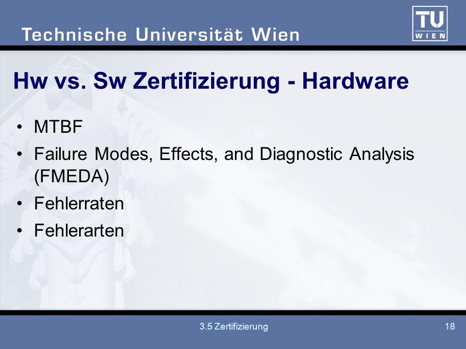 Hw vs. Sw Zertifizierung - Hardware