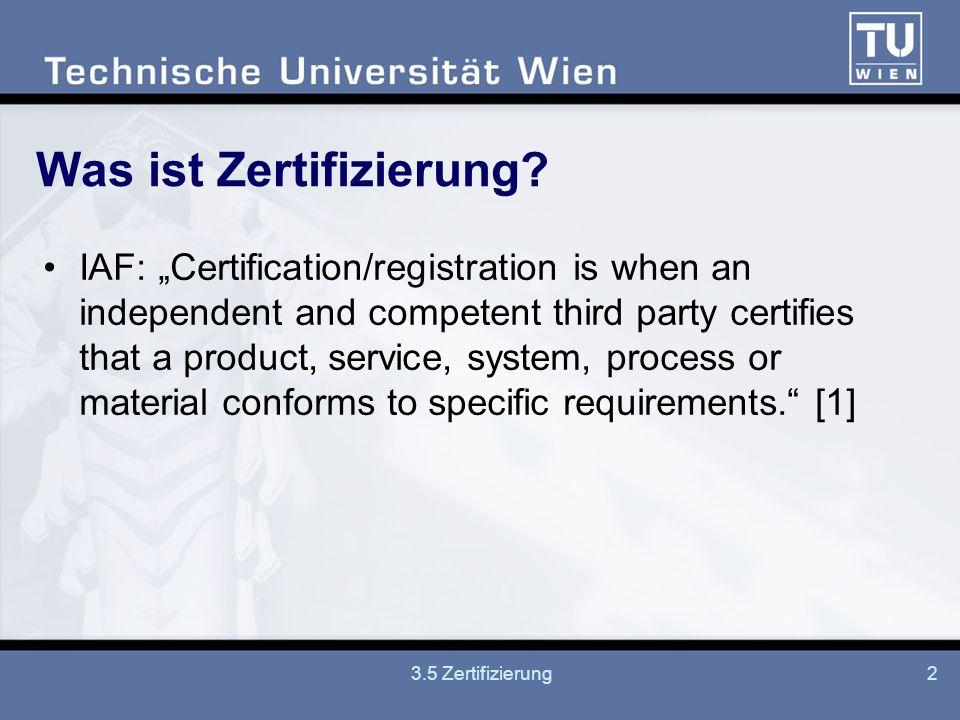 Was ist Zertifizierung