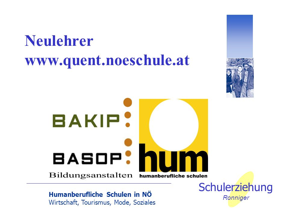 Neulehrer www.quent.noeschule.at