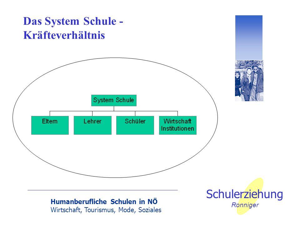Das System Schule - Kräfteverhältnis