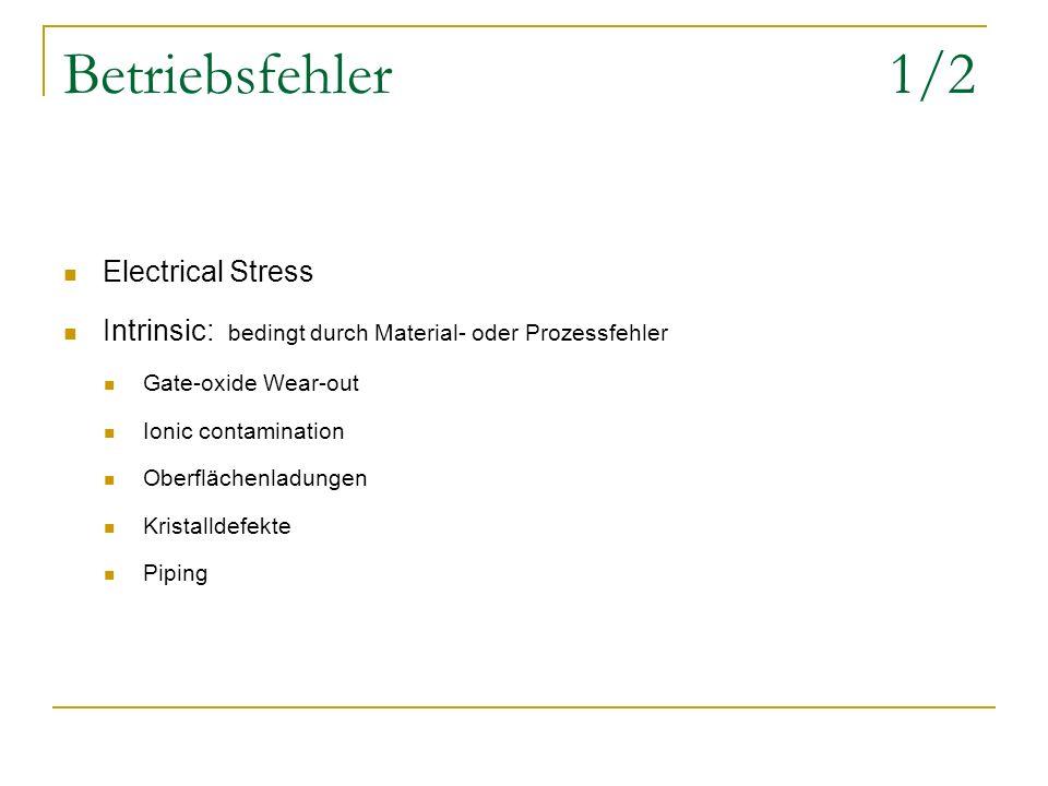 Betriebsfehler 1/2 Electrical Stress