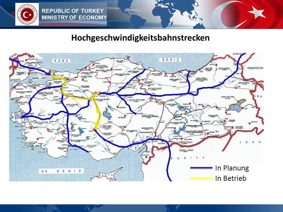 Hochgeschwindigkeitsbahnstrecken
