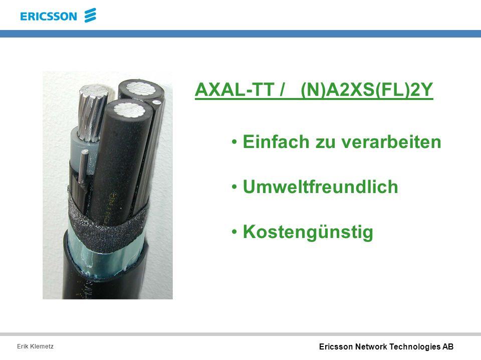 AXAL-TT / (N)A2XS(FL)2Y Einfach zu verarbeiten Umweltfreundlich Kostengünstig