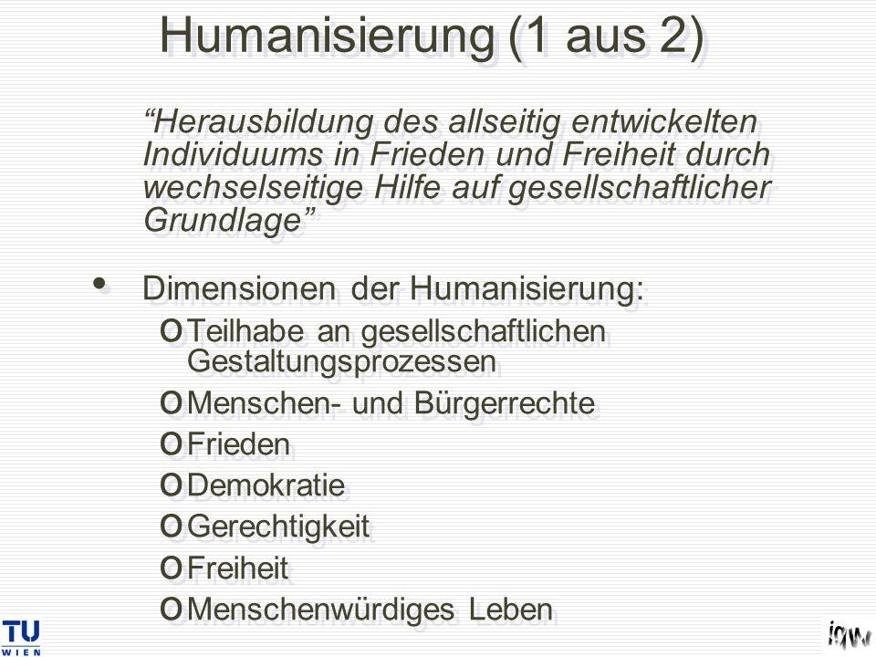 Humanisierung (1 aus 2)