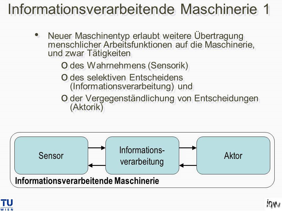 Informationsverarbeitende Maschinerie 1