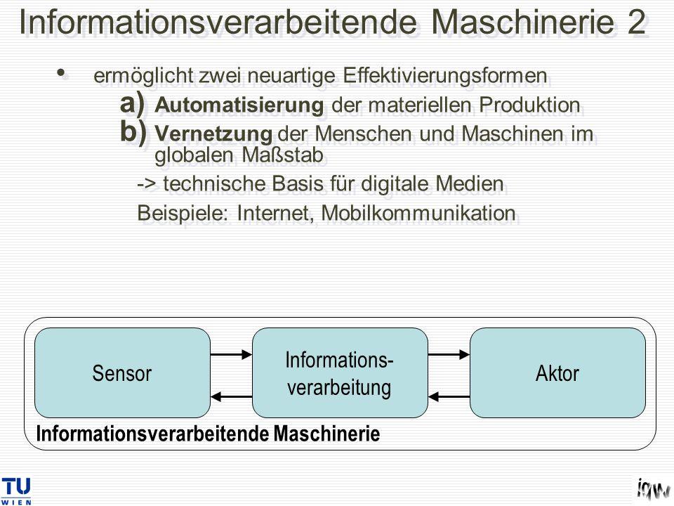 Informationsverarbeitende Maschinerie 2