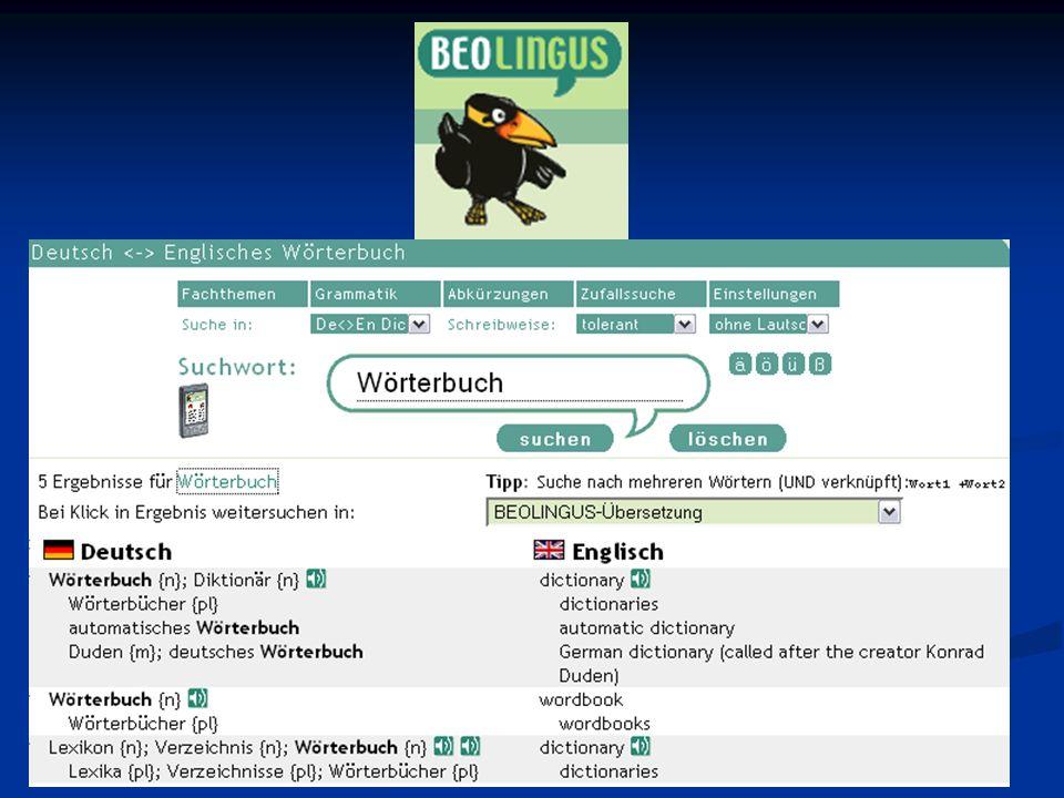 Online-Wörterbücher: Andrea Karner, Susi Luginger