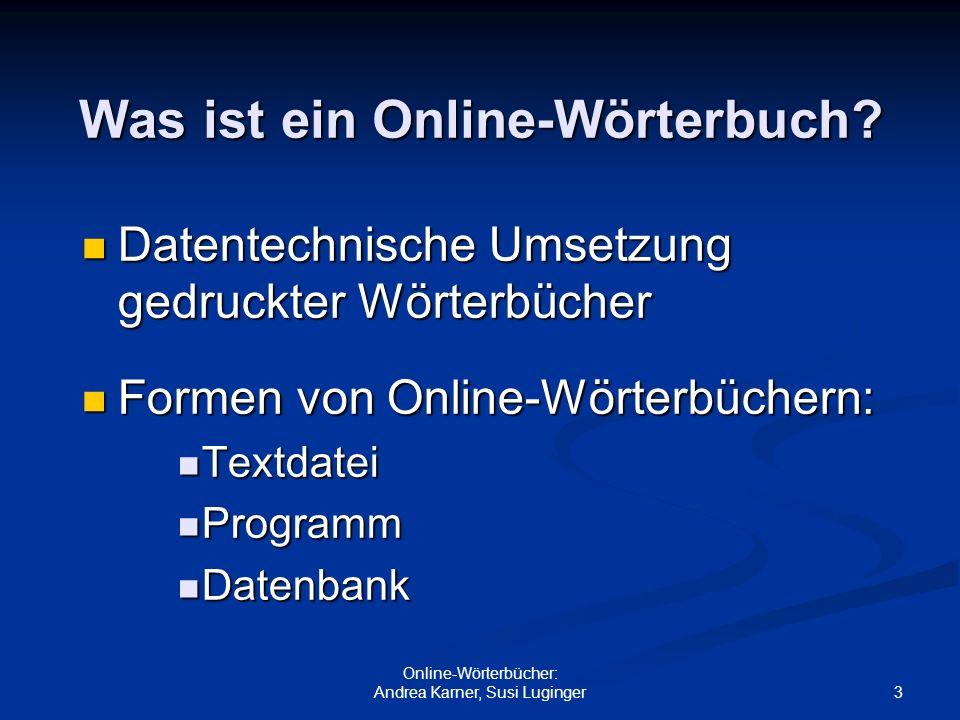 Was ist ein Online-Wörterbuch