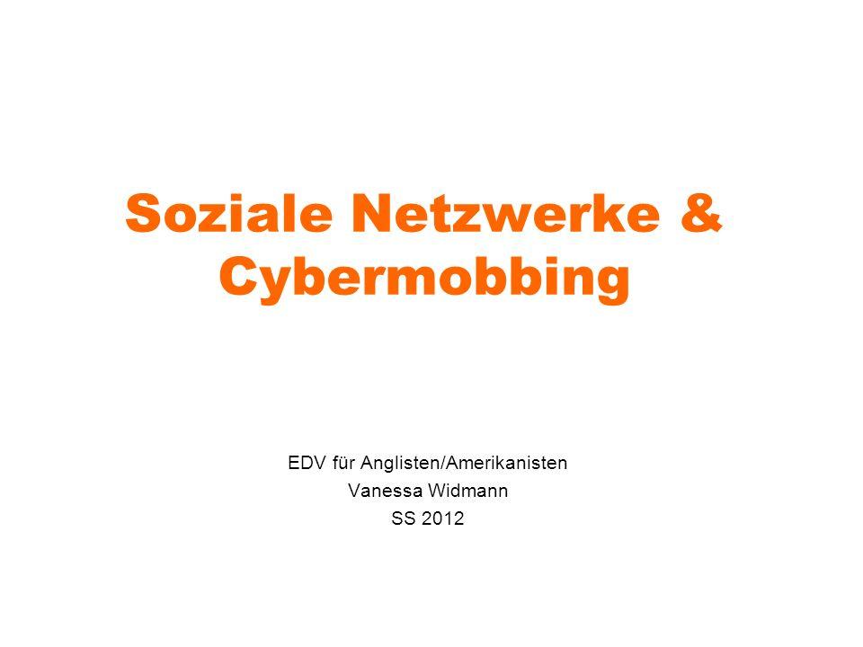 Soziale Netzwerke & Cybermobbing