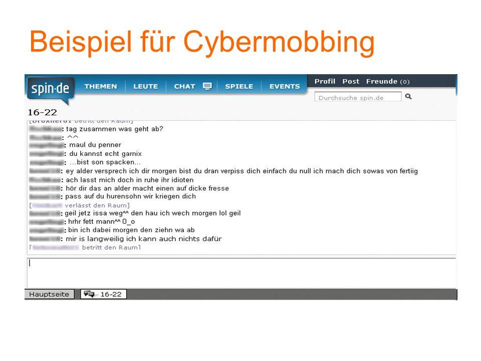 Beispiel für Cybermobbing
