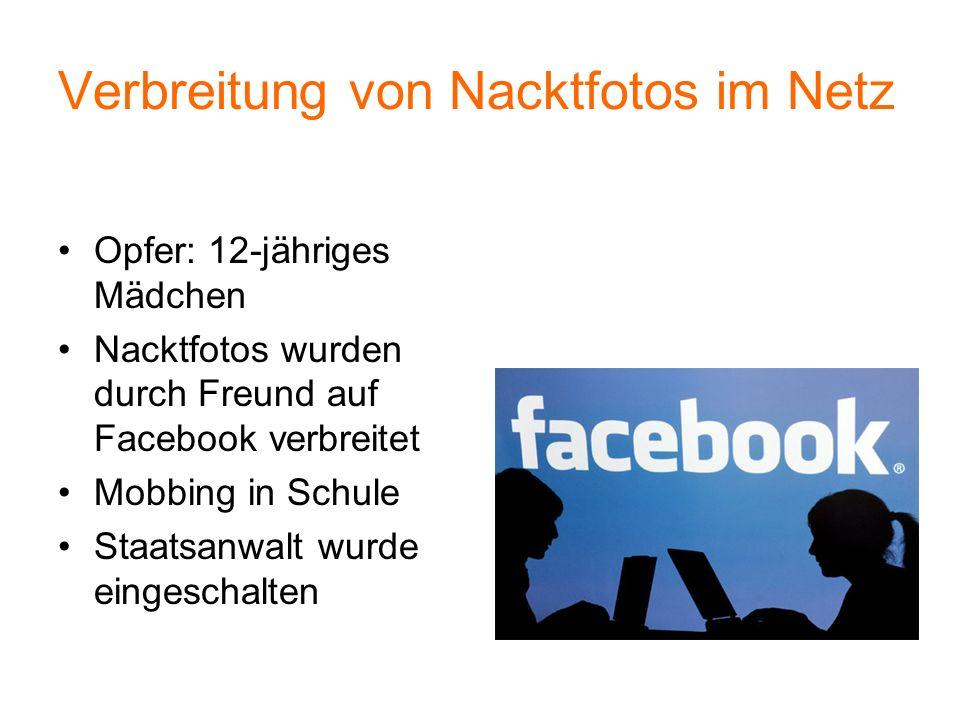 Verbreitung von Nacktfotos im Netz