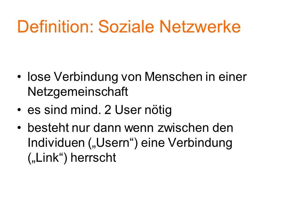 Definition: Soziale Netzwerke