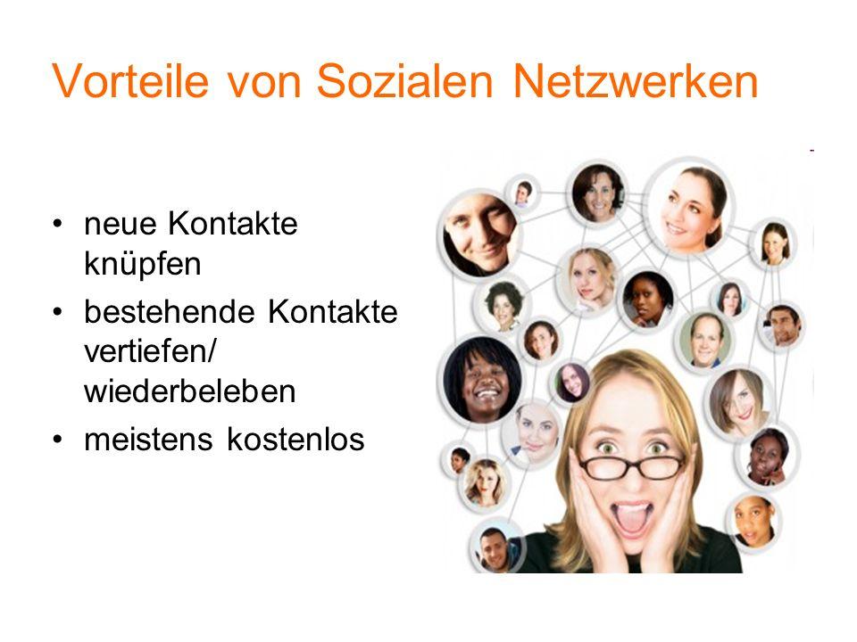 Vorteile von Sozialen Netzwerken