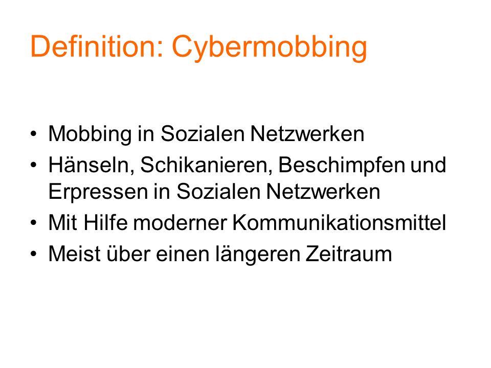 Definition: Cybermobbing