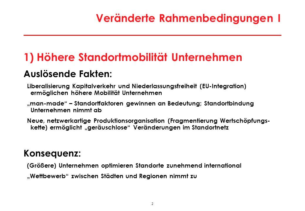Veränderte Rahmenbedingungen II
