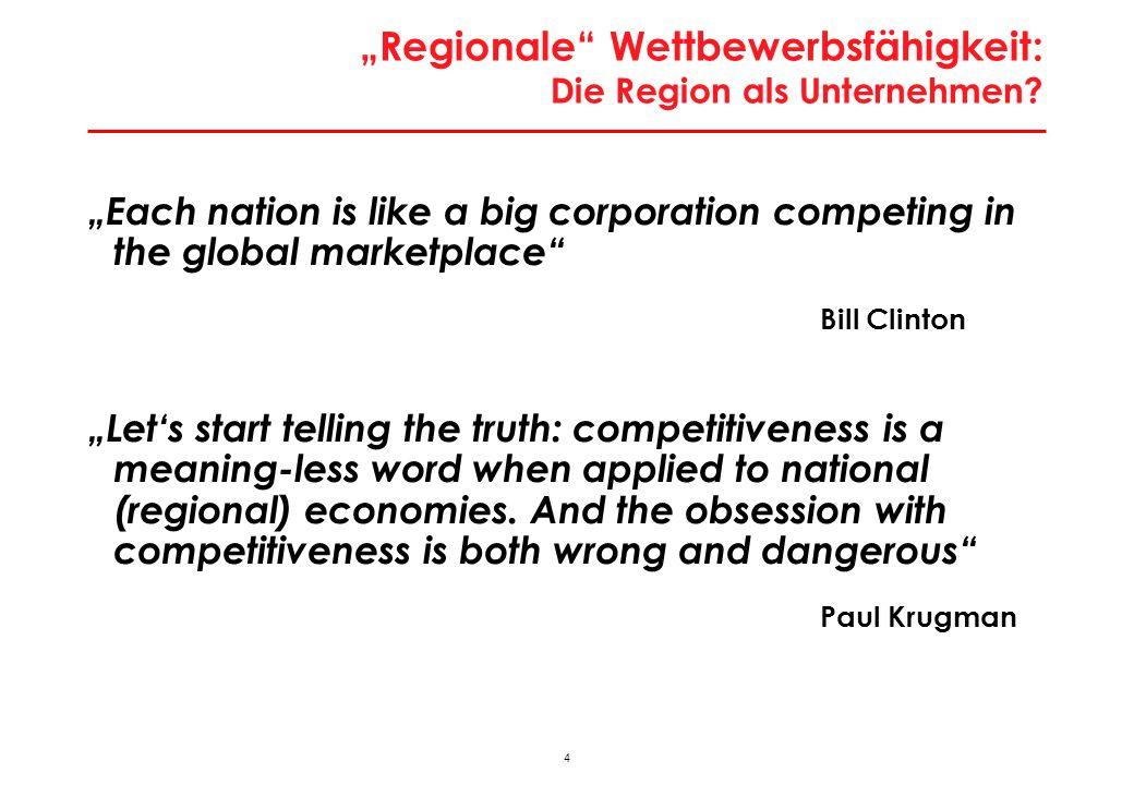 """""""Regionale Wettbewerbsfähigkeit : Argumente gegen das Konzept"""