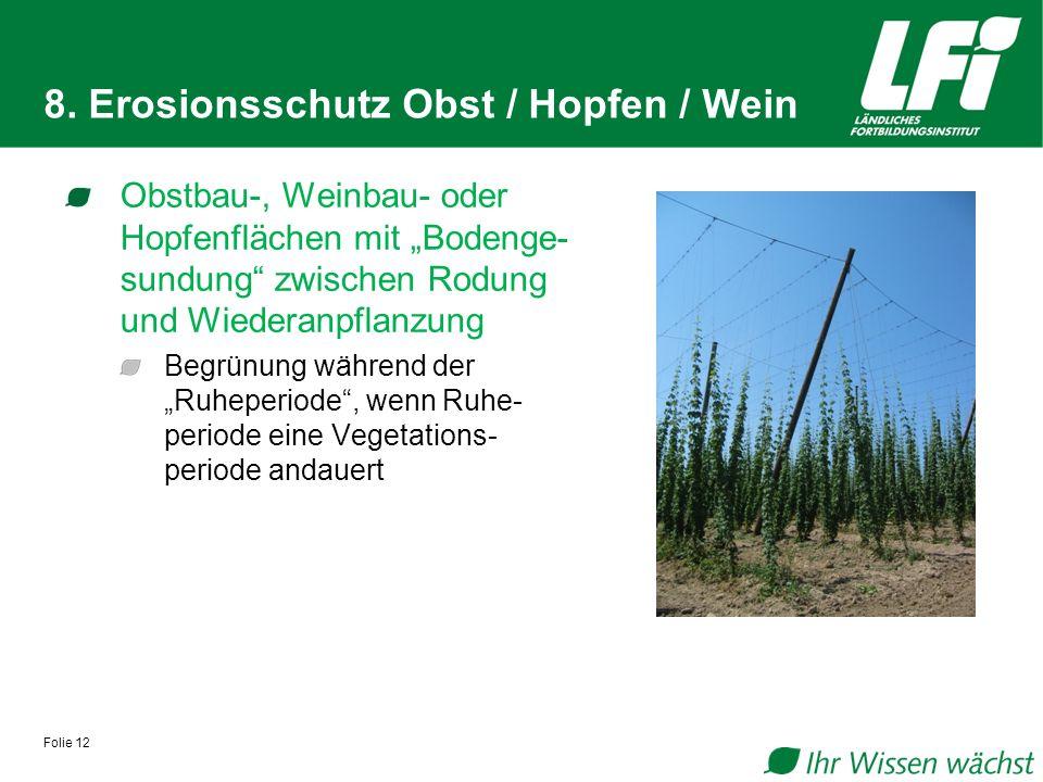 8. Erosionsschutz Obst / Hopfen / Wein