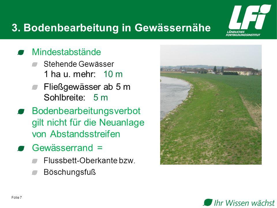 3. Bodenbearbeitung in Gewässernähe