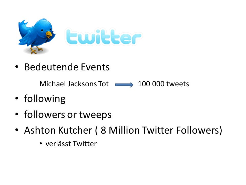 Michael Jacksons Tot tweets following followers or tweeps
