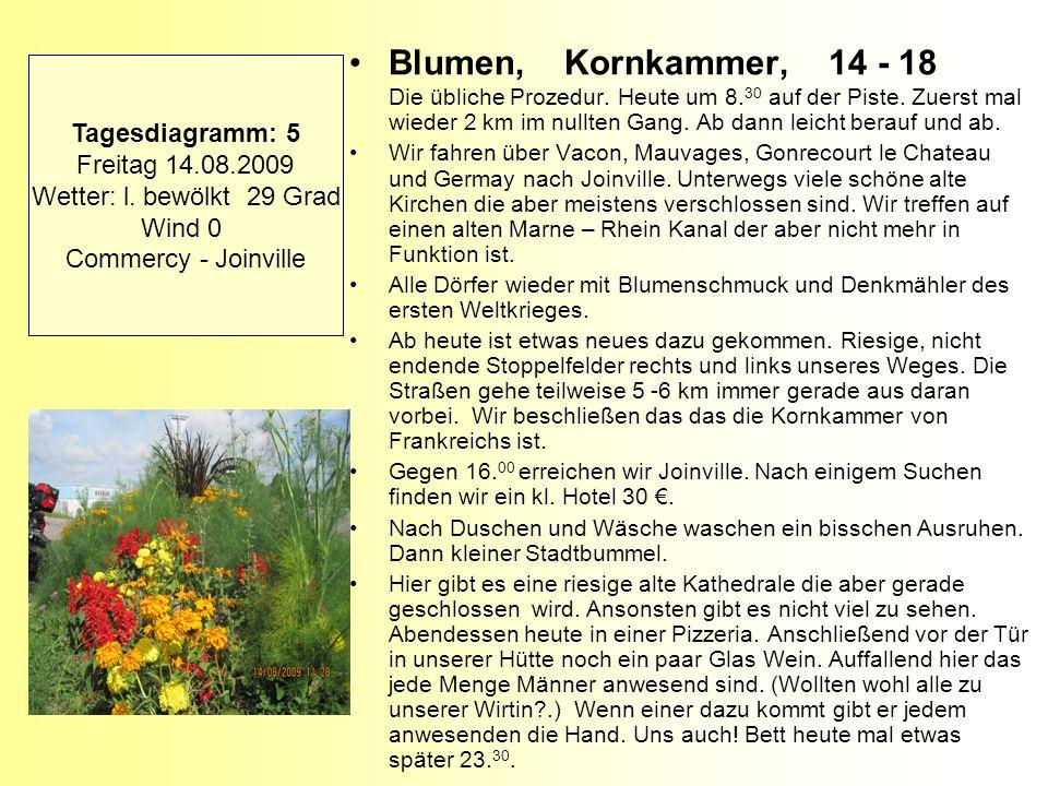 Blumen, Kornkammer, 14 - 18 Die übliche Prozedur. Heute um 8