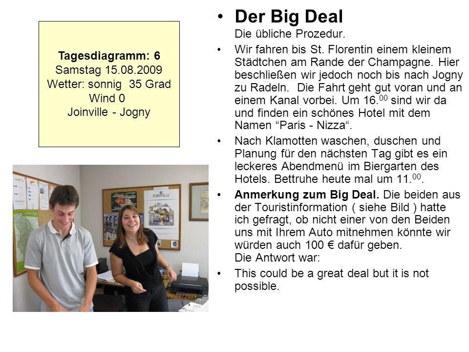 Der Big Deal Die übliche Prozedur.