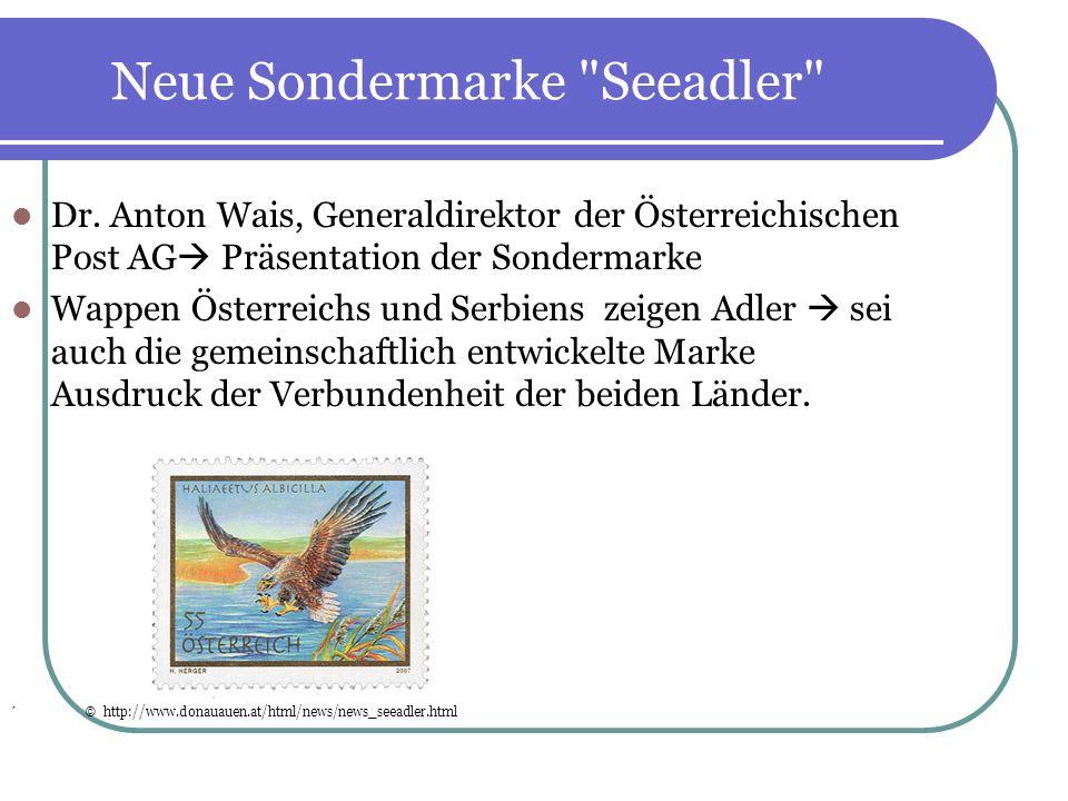 Neue Sondermarke Seeadler