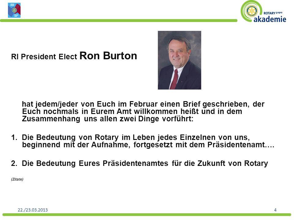 RI President Elect Ron Burton