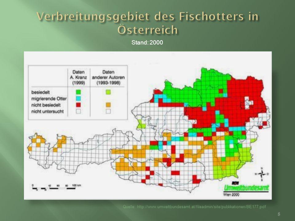 Verbreitungsgebiet des Fischotters in Österreich