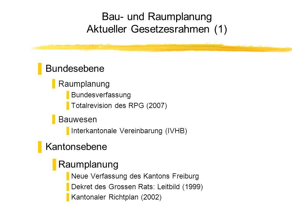 Bau- und Raumplanung Aktueller Gesetzesrahmen (1)